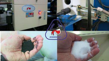 Автоматическое устройство подачи гранулированной смазки в камеру прессования, гранулы с графитом, гранулы без графита