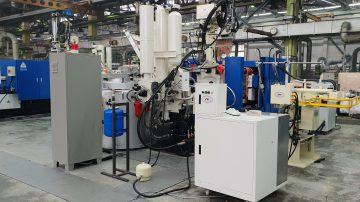 Общий вид автоматизированного комплекса литья под давлением, включающего автоматический смеситель разделительной смазки пресс-форм