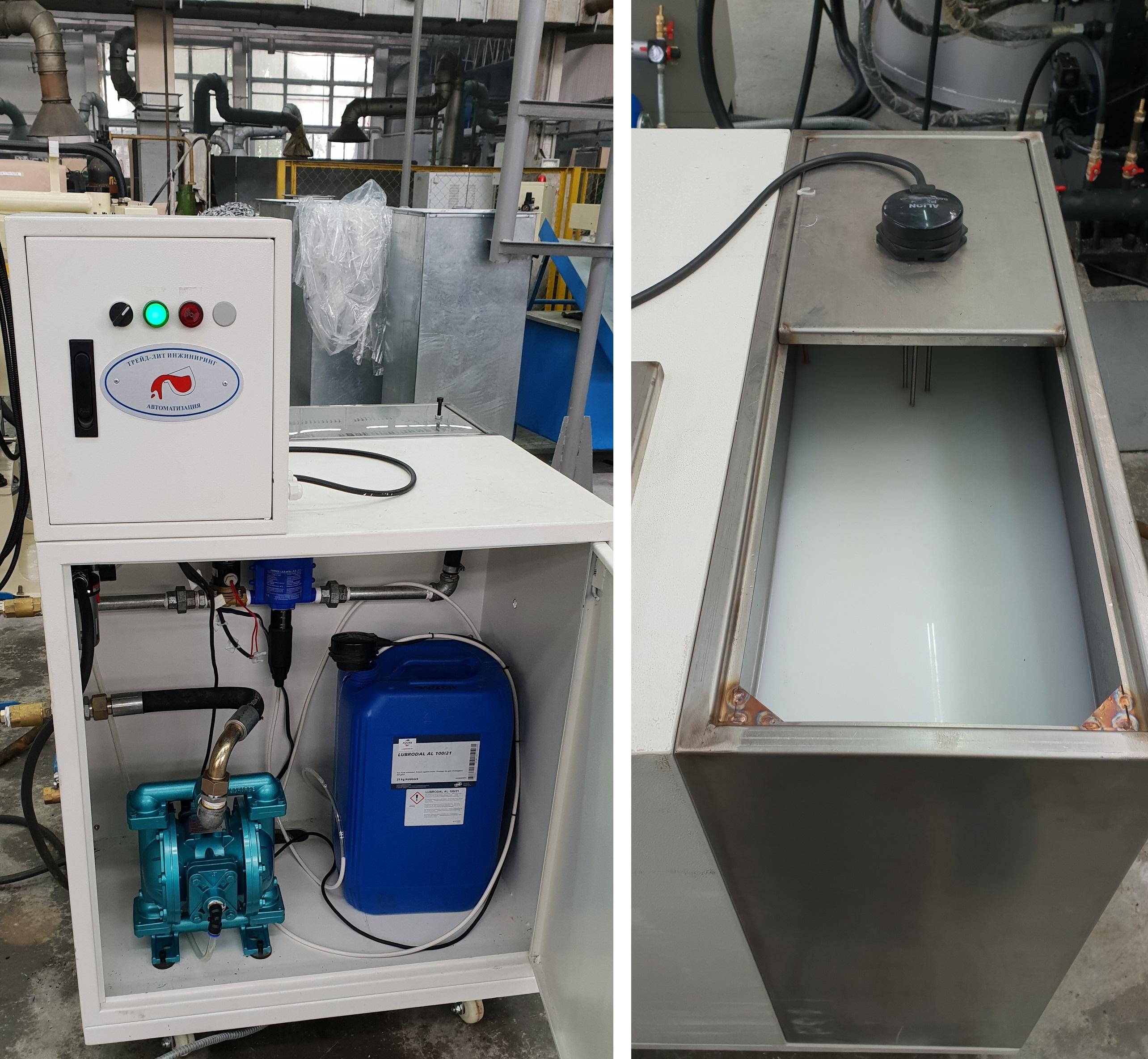 Конструкция автоматического смесителя разделительной смазки