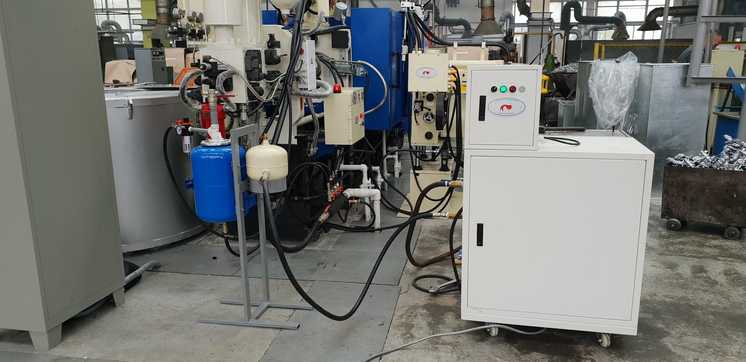 Подключение автоматического смесителя разделительной смазки