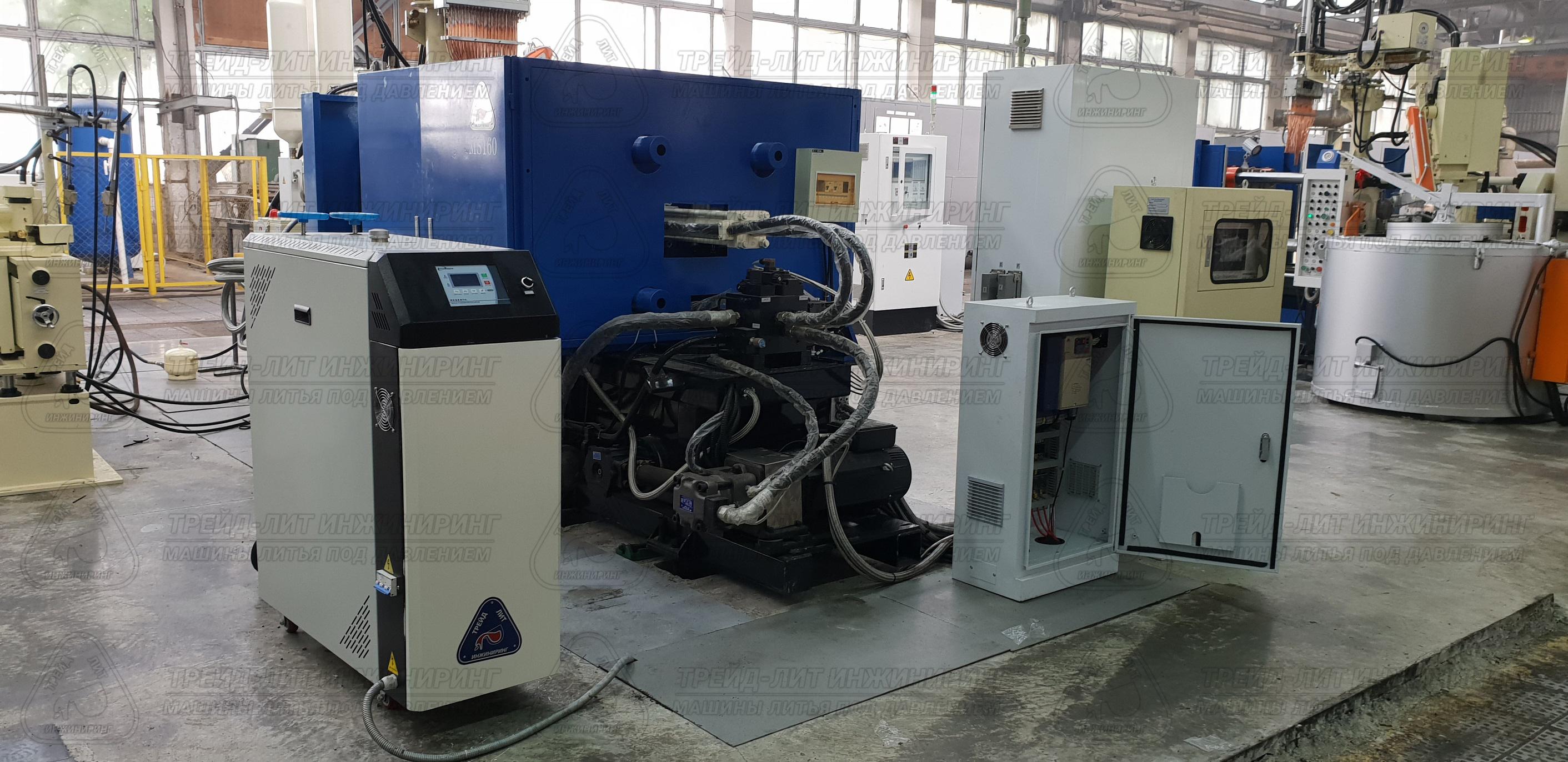 Термостат у машины литья под давлением MS160, в процессе монтажа