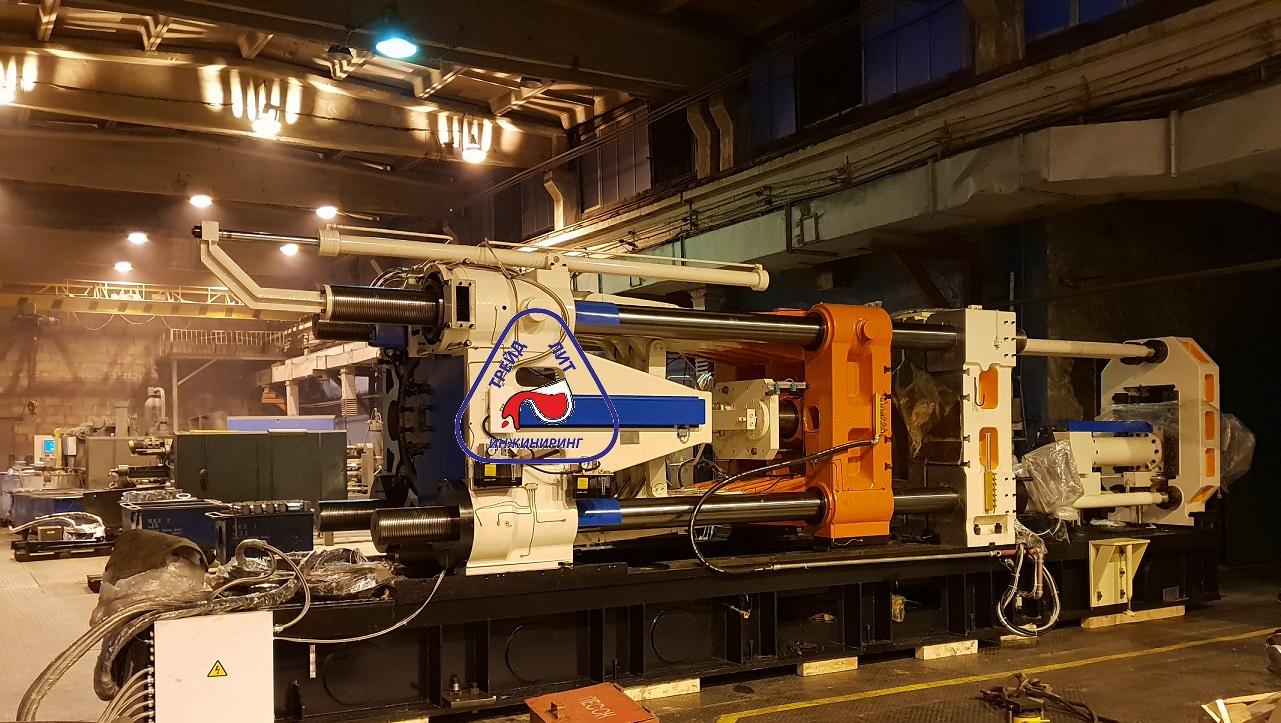 Машина литья под давлением MS1100 в цеху